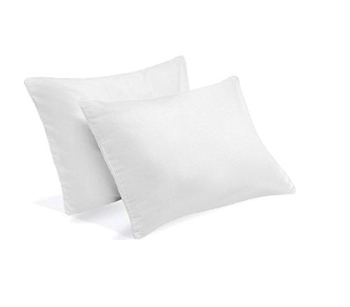 2 Serta Gel Memory Foam Pillow Set of 2 Micro Cushion Pillows Bundle