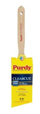 Purdy 144152125 Clearcut Series Glide Angular Trim Paint Brush, 2-1/2 inch