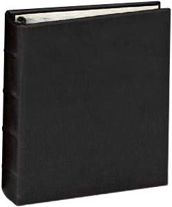The Post Impressions System standard 3-ring Rustico-Black eco-leather binder unfilled - 8.5x11
