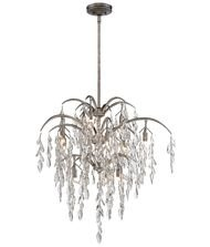 Flora 1 Light Pendant - Metropolitan N6862-278 Bella Flora Pendant, 12-Light Xenon 480 Total Watts, Silver Mist