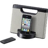 Sony RDPM5iP 30-Pin iPhone/iPod Portable Speaker Dock (Silver)