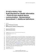 IEEE 11073-10101A-2015 IEEE Standard Health informatics--Point-of-care medical device communication --Part 10101: Nomenclature Amendment 1: Additional Definitions