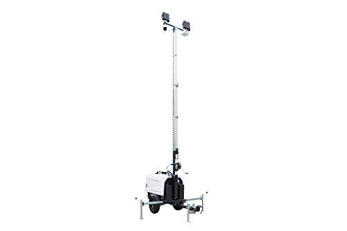 25' Surveillance Light Tower w/ 6000W Generator - IP Camera & DVR - (2) 160W LEDs - 43200 Lumens