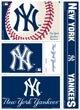"MLB New York Yankees 15569110 Multi Use Decal, 11"" x 17"""