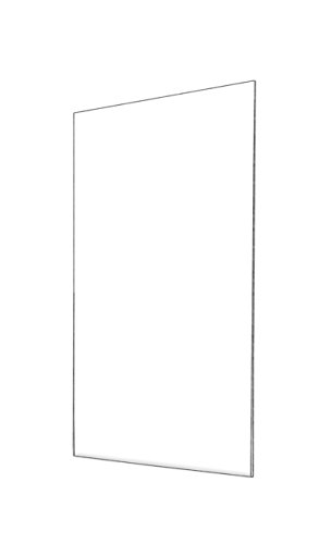 (Marketing Holders Wall Mount Sign Holder No Holes Vertical Clear Acrylic Ad Signs Frame 11