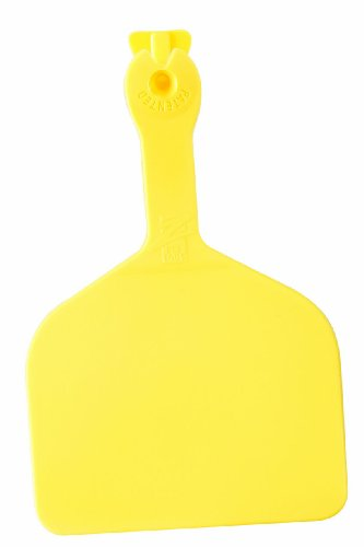 - Z Tags 1000 Count 1-Piece Blank Feedlot Tags, Yellow
