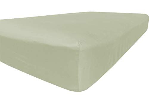 American Pillowcase Queen Size Fitted Sheet Only - 300 Thread Count 100% Long Staple Cotton - Pieces Sold Separately for Set Guarantee (Sage Green)