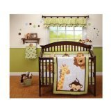 Little Bedding 3 Piece Comforter Set, Jungle Pals