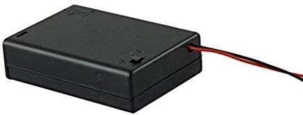 5 Pc 3 AA 2A Battery 4.5V Holder Box Case with Switch Lead Black Hot