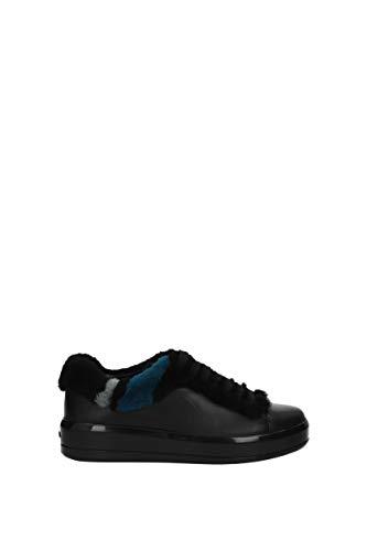 EU 1E777H Cuir Noir Sneakers Femme Prada p4q164