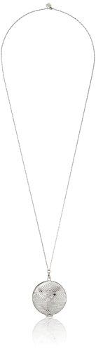 House of Harlow 1960 Silver-Plated Medallion Locket Pendant (Medallion Locket)