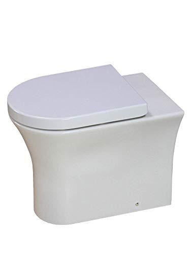 KLARA Toilet WC Back to Wall Bathroom Rimless Soft Close Seat