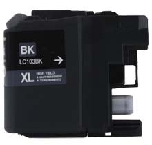 83 Printer Inkjet Cartridge - Bulk LC103BK, LC101BK Brother Compatible Inkjet Cartridge, Black Value Pack: CLC103BK (83 Inkjet Cartridges)