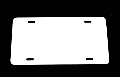 - WHITE - Aluminum License Plate Blank 12x6 .040 Gauge (1mm) - Laser Cut and MADE IN USA