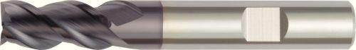 WIDIA Hanita D50316006RW D503 HP Finishing End Mill Weldon Shank Right Hand Cut 3-Flute TiAlN Coating 16 mm Shank Diameter 16 mm Cutting Diameter Carbide