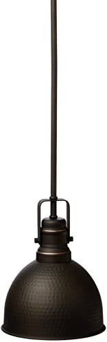 Westinghouse Lighting 6345600 One-Light Mini Pendant Hammered Oil Rubbed Bronze Finish