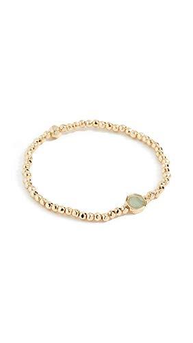 gorjana Women's Power Gemstone Luck Charm Bracelet, Aventurine/Gold, One Size