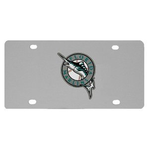 Mlb Stainless Steel License Plate (MLB Miami Marlins Steel License)