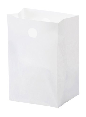 Glopack SAHNWTNO Lunch Bag with Die cut Handle, 14'' Length x 8.25'' Width (Case of 1000) by Glopack