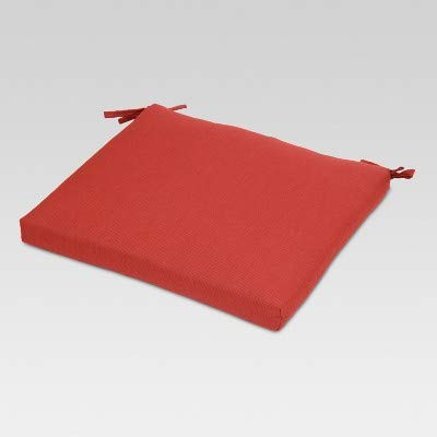Threshold Outdoor Seat Cushion Red (18x20x3)