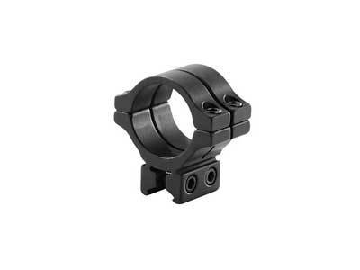 BKL Single 30mm Double Strap Ring, 3/8 or 11mm Dovetail, 1 Long, Low, Black