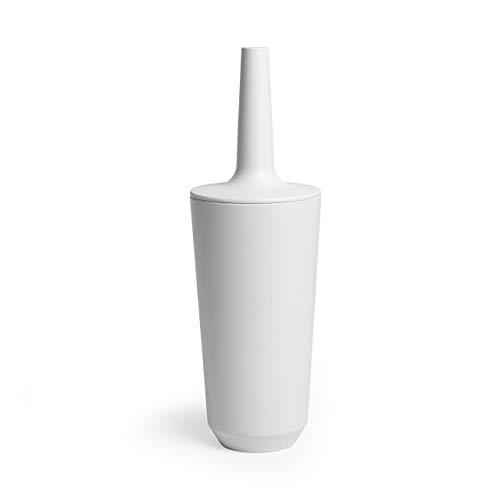 Umbra Corsa Toilet Brush with Holder, White