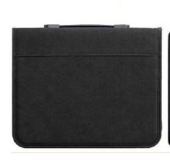 Prat Paris Start 3 Presentation Case, Padded Cloth Zippered Multi-ring Binder with Ten 8.5x11