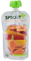 Sprout Organic Baby Food Fruit & Veggie Blend Stage 2 Carrot