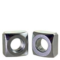 Zinc CR+3, Size: 7//8-9 Grade 2 175pcs inch 7//8-9 Square Nut