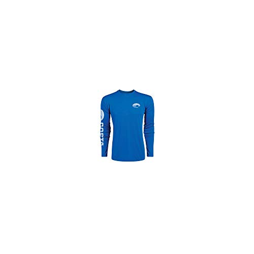 Costa Del Mar Technical Crew Performance Long Sleeve, Royal Blue, Small