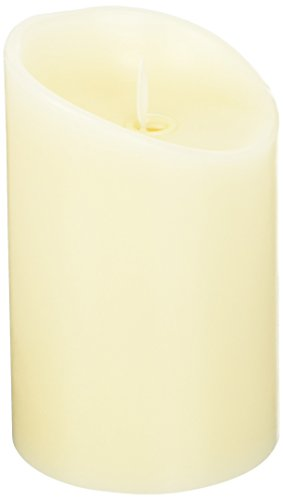 """PCT Brands Luminara 5"""" Unscented Flameless Candle, Ivory"""