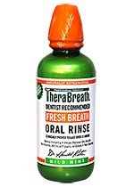 TheraBreath Dentist Recommended Fresh Breath Oral Rinse - Mild Mint Flavor, 16 Ounce (Pack of 1)