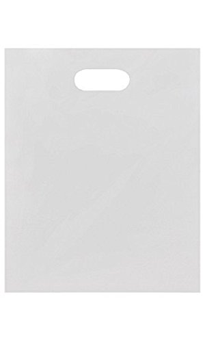Medium Low Density White Merchandise Bags - Case of 1,000 by STORE001