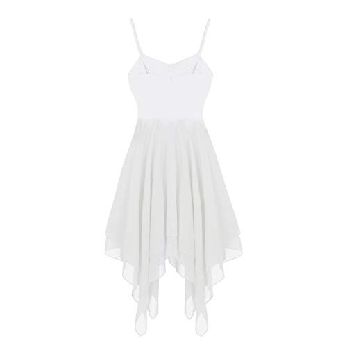 Gimnasia Blanco Traje Leotarto de Agoky de Danza Maillot Ropa Falda Vestido Mujer Ballet Gasa Baile Elástico de Clásico q4qwOTX6x