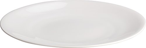 "Alessi""All-Time"" Dining Plates in Bone China (Set of 4), White"
