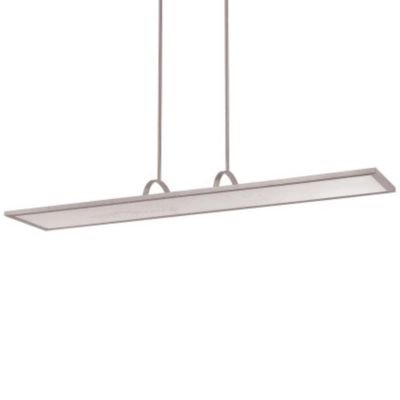 WAC Lighting PD-51148-30-AL Line LED Chandelier, One Size, White/Soft Brushed Aluminum