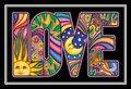 2 x Dan Morris Love Word Postcard - 6'' x 4''