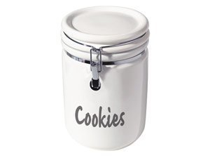 Oggi Jumbo 9-1/2-Inch Ceramic Cookie Jar, White by Oggi by Oggi