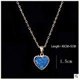 - Peach Orange Crystal Miss U Heart Swarovski Elements Love Necklace in Sterling Silver, Astral Pink Heart Ring Bridal Custom Jewelry