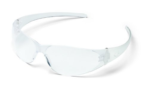 CREWS CL110 Checklite Anti-Scratch Resistant Safety Glasses Clear Lens by MCR Safety
