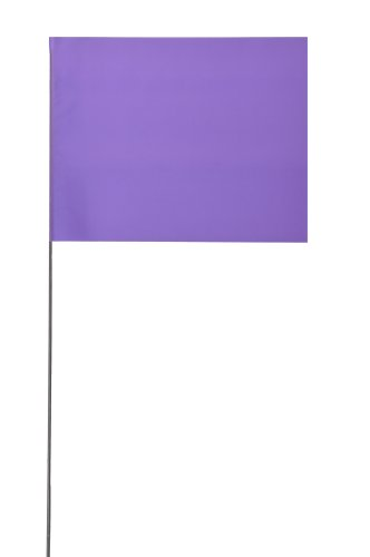 Swanson FPP1525 Purple Marking Flags with 15 Wire Staffs (25 Pack), 2 x 3