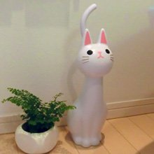 Cat Toothbrush Holder - NEW Toilet Brush Cat White From Japan