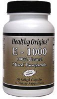 Healthy Origins Vitamin E 1000Iu 60 Sgel by Healthy Origins