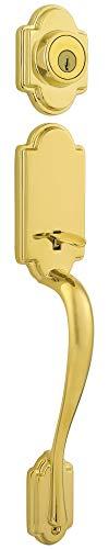Kwikset 802ANLIP-3 Arlington Dummy Exterior Handleset Bright Brass Finish