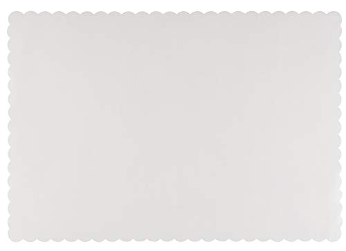 Paper Placemats - 100-Pack White Bulk Disposable