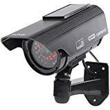 Etopars Solar Power Black Fake Dummy Security CCTV Camera Waterproof IR LED Outdoor Indoor ()