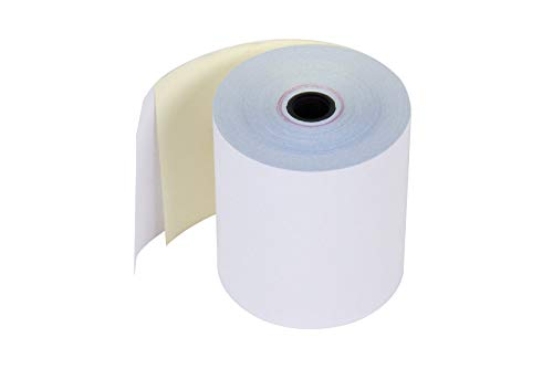 Carbonless 2 Ply POS Kitchen Receipt Paper , 3 Inches x 90 Feet, White/Canary - 1 BOX of 10 Rolls - FSC Certificacion