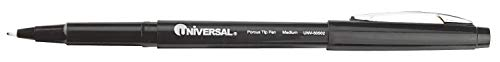 Universal One Stick Porous Point Rollerball Pen, 0.7 mm Point Size, Black Ink Color - UNV50502 Pack of 2 by Universal One (Image #1)