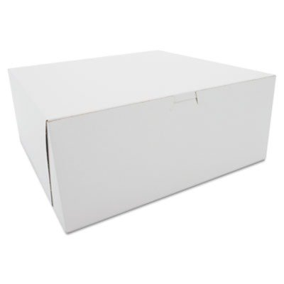 SCH0987 Tuck-Top Bakery Boxes, Paperboard, White, 12 x 12 x 5