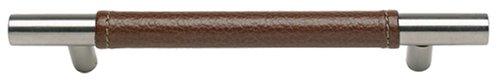 Leather Zanzibar (Atlas Homewares 281-OW/SS 220-mm Zanzibar Leather Long Pull, Stainless Steel)
